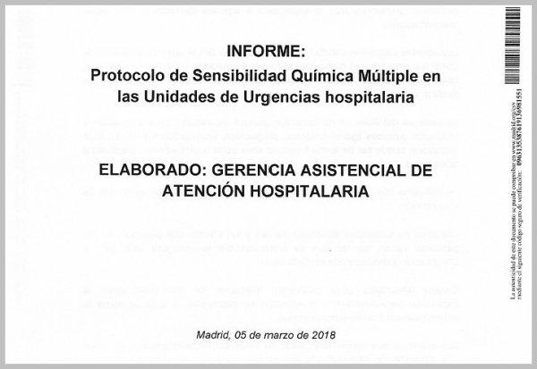 """Prise en charge des personnes atteintes """"d'Hypersensibilité Chimique Multiple"""" en Espagne"""