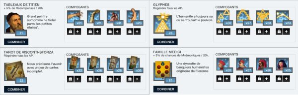 Assassin's Creed Project Legacy : Mnémoniques disponibles