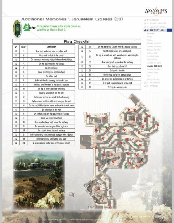 Assassin's Creed : Drapeaux et Templiers - Jérusalem quartier Moyen