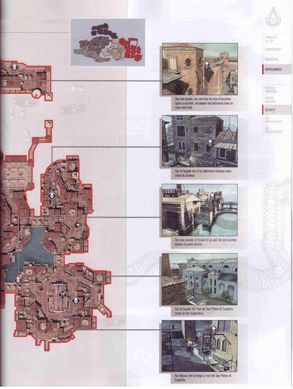 Assassin's creed II : Plumes et Glyphes - Venise Quartier du Castello