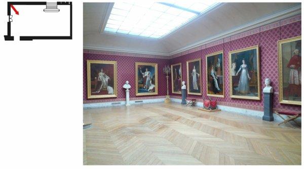 Aile centrale - Attique Chimay - Salle du tableau de napoléon en costume de sacre