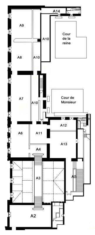 Aile centrale - Attique - Attique Chimay - Plan