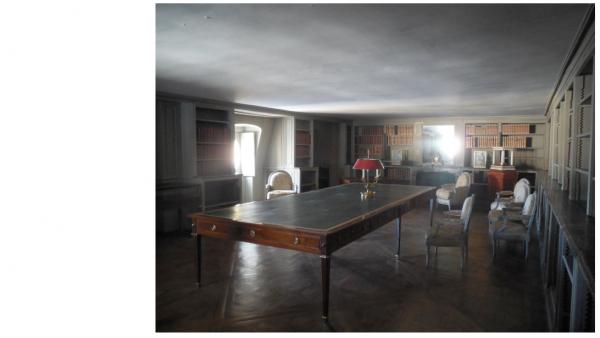 Aile-centrale-Attique - Appartement du roi - B1 Bibliothèque des combles