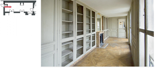 Aile centrale- Attique-Appartement du roi - B2 Supplément de bibliothèque.