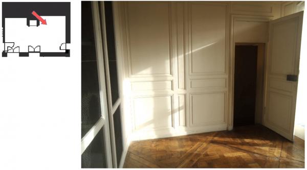 Aile-centrale-Attique- Appartement de Madame Pompadour - C1 Ancienne Salle de Bain ou second supplément de bibliothèque