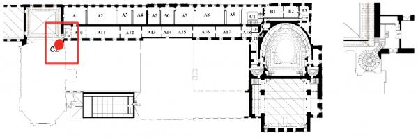 C2 Escalier en vis nord de la chapelle royale