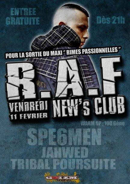 Concert de R.A.F (FEATURING CHARLIE'S) le 11 Février 2011