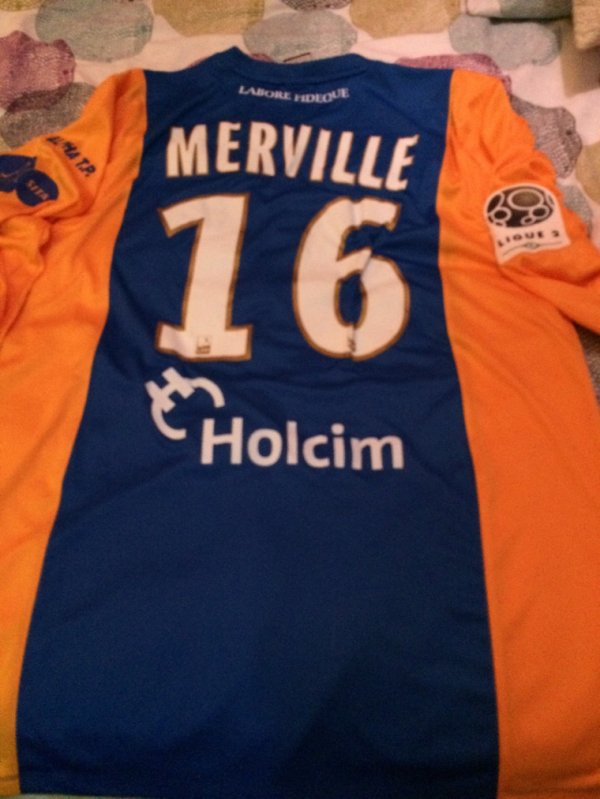 Maillot porté par Cyrille MERVILLE lors du match contre angers SCO