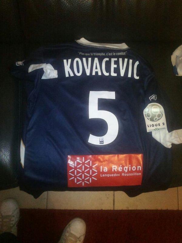 Maillot extérieur porté à Valenciennes par KOVACEVIC