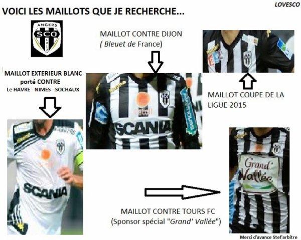 Aidez moi dans ma recherche de nouveaux maillots Sco d'Angers