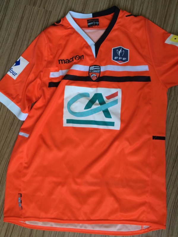 Maillot porté en Coupe de France par l'ex Roc angevin avec Lorient