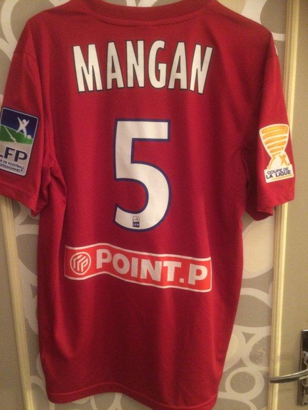 Maillot porté par Mangan en Coupe de la Ligue