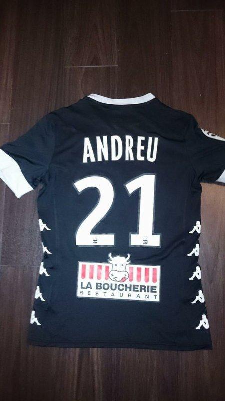 Maillot porté par le talentueux Yohan Andreu contre l'Olympique de Marseille