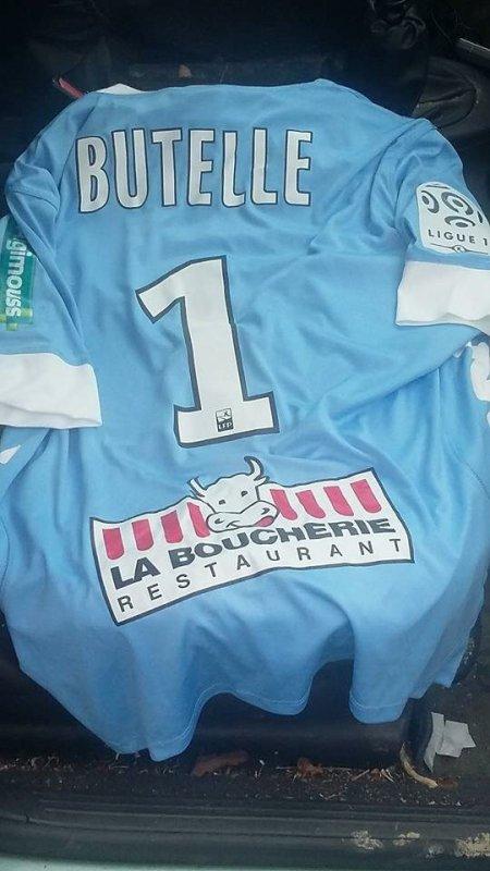 Maillot porté par Ludovic Butelle lors du déplacement au Gazelec Ajaccio