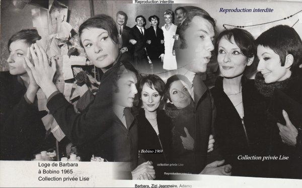 Barbara à Bobino en 1965 et 1969