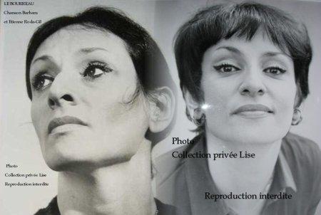 Barbara photo de gauche tirage original pochette  Amours incestueuses