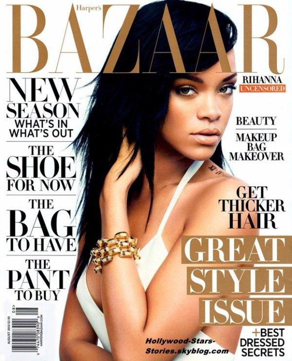Rihanna en couverture du magazine Harper's Bazaar.