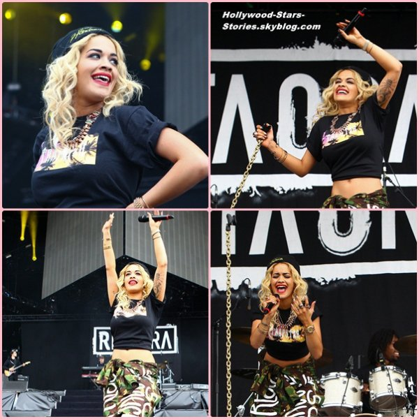 Rita Ora sur scène au Barclaycard Wireless Festival, à Londres, en Angleterre. Samedi , 07 juillet