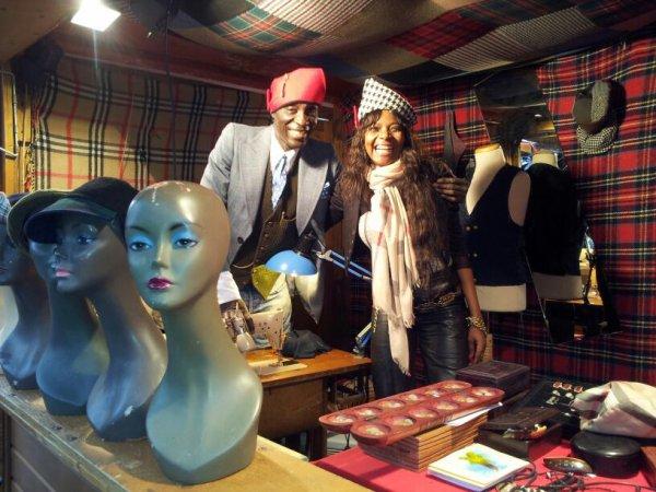 Asene Sene, mon styliste et moi au marcher de noel de Nantes.