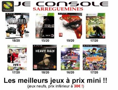 LES MEILLEURS JEUX À PRIX MINI ! !