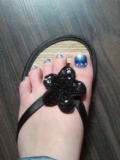 nail art sur pied