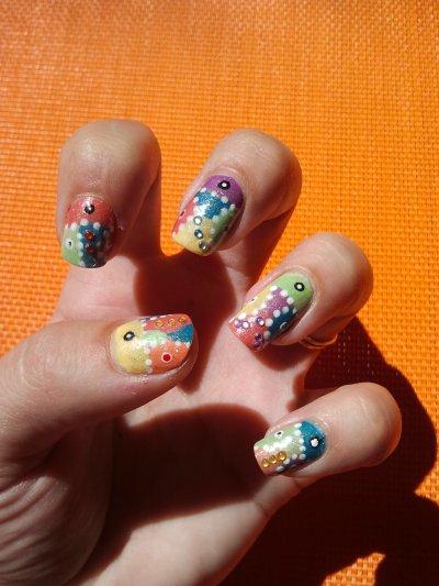 nail art arlequin
