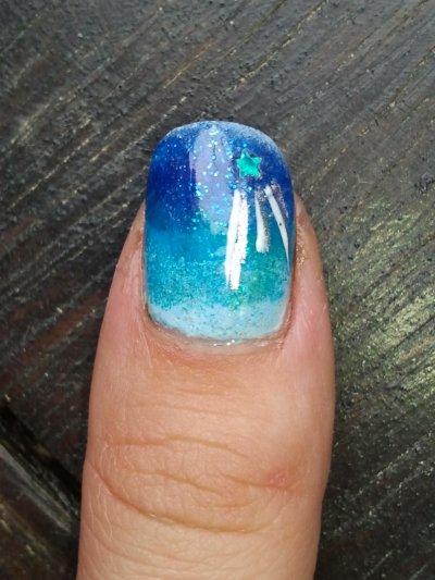 nail art nuit étoilée