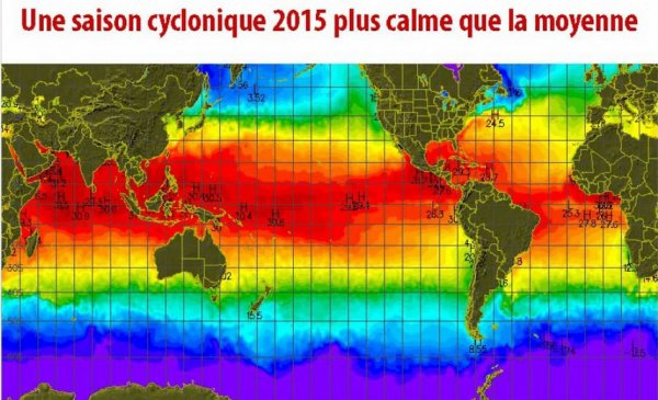 Début de la saison cyclonique 2015 en Atlantique : Prévision d'une année plus calme que la moyenne