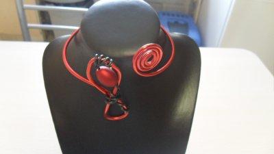 tour de mollet ,cable rouge 4 mm et spirales