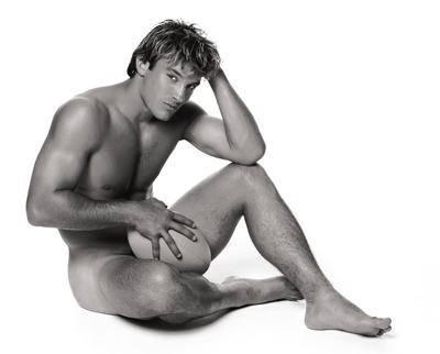 Photo du rugbyman nu