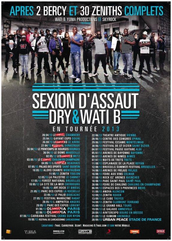 Tournée de Sexion D'assaut, DRY & WATI B