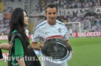 Del Piero Meillieur joueurr de la Juventus 2011