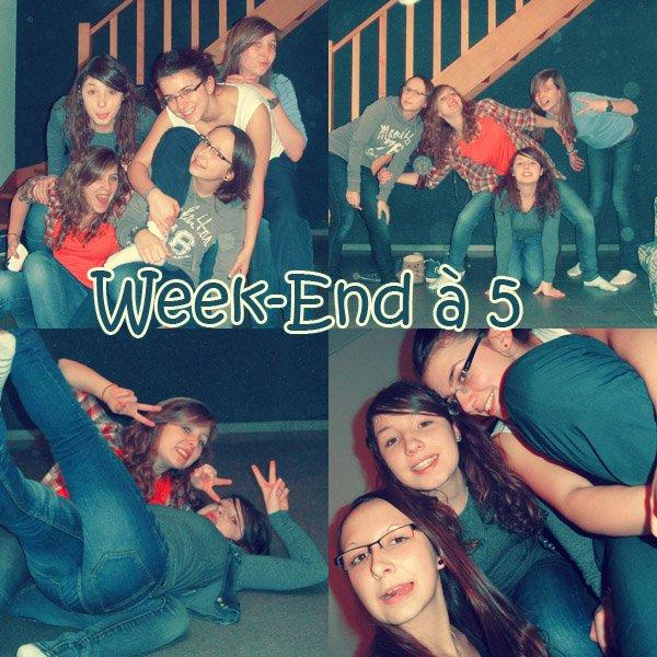 Week-End à 5 (l) L'amitié est si importante, grâce à vous chaque jour arrive avec des délir's de plus, I love you les gonz'