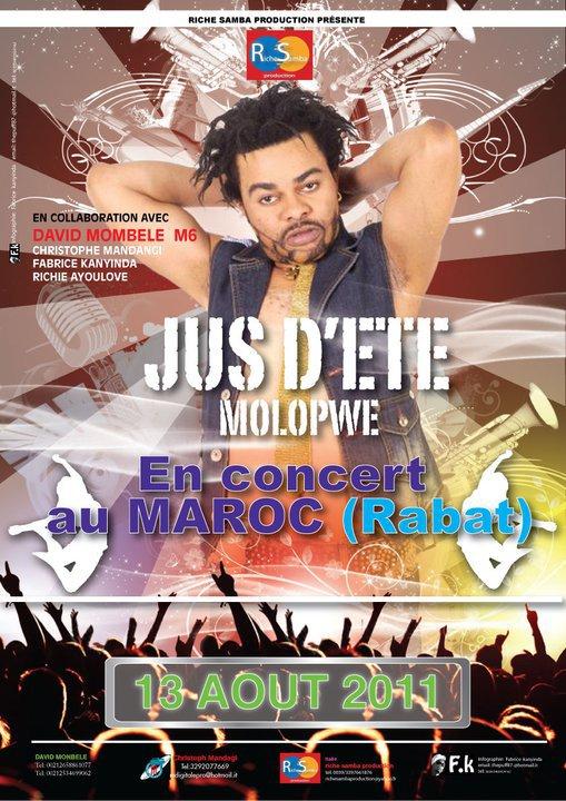 Je confirme concert le 13 août a Rabat