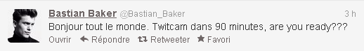 Twitcam de Bastian Baker. 02/12/12