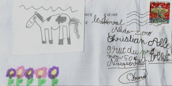 Caroline, Gwendolyne (8ans), Antonin (5ans) ALLE-CROCQUEVIEILLE(Projet : le cheval)