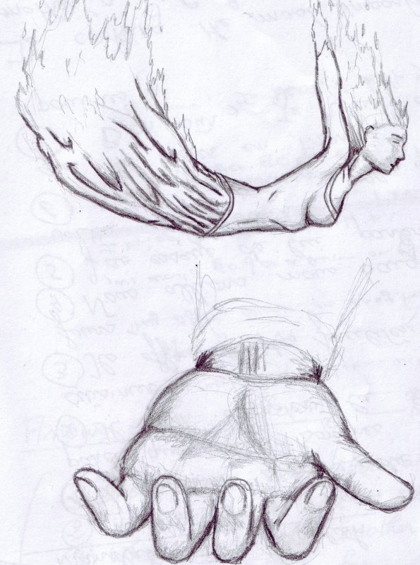 Dessin Libre dessin n°12 chute libre - ma vie mes