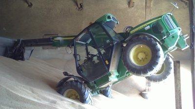 retroussage du grain avec jd 3420