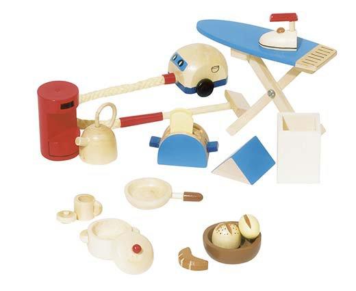 Accessoires miniatures cuisine pour maison de poupées