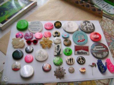 nouveau badges et pin's fin 80 et annee 90