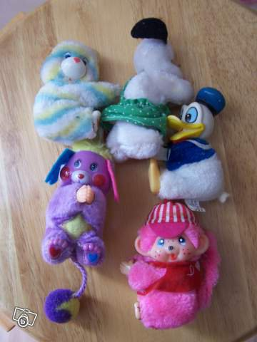 Peluches pinces  annee 80