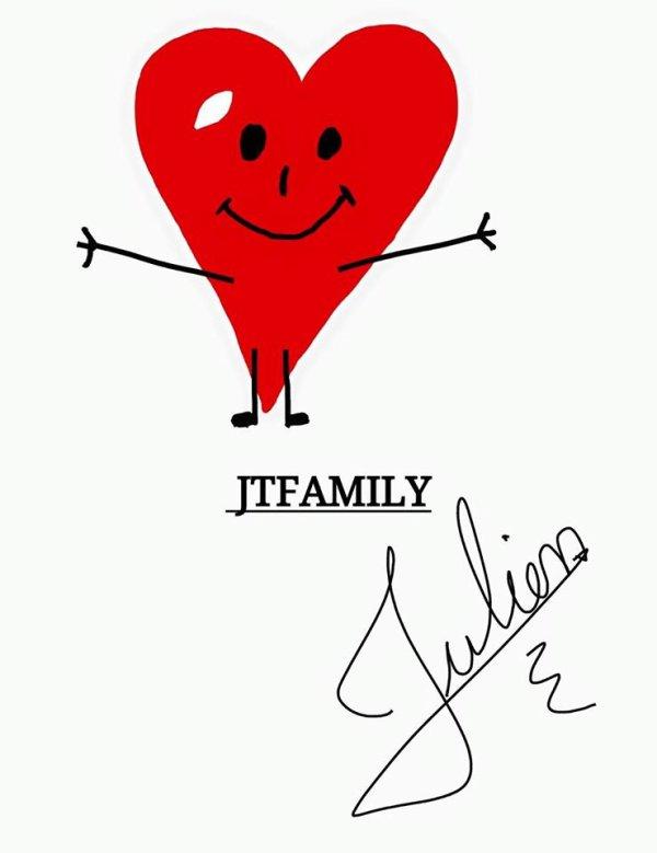 MESSAGE DE JULIEN THIEBAUX POUR LA JTFAMILY