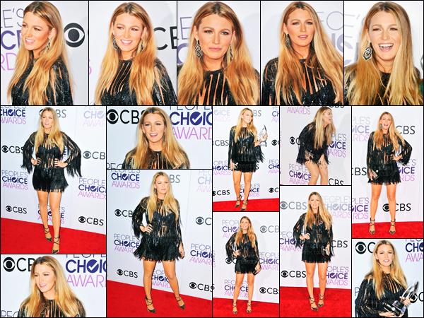 18.01.2017 ─ Blake Lively était présente au « People's Choice Awards 2017 » se déroulant dans Los Angeles, CA.Blake a gagnée le prix pour la meilleure actrice dramatique préférée ! Concernant la tenue, je ne suis pas fan de la robe, mais elle reste jolie dedans.