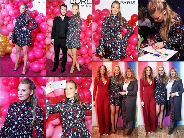 13.02.2017 ─ Blake Lively était présente lors du launch «L'Oreal Paris Paints + Colorista» étant dans New-York C.Enfin des news de la belle blonde ! C'est sur le tapis rose de l'Oréal que la belle a pris la pose dans une magnifique robe, pour ma part c'est un top !