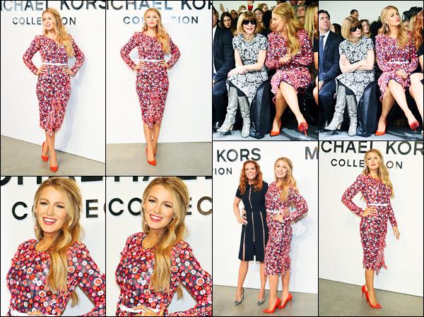 15.02.2017 ─ Blake Lively était présente, au défilé de mode, de Michael Kors, se déroulant, dans New-York City.La belle a posée sur le tapis rouge avant le défilé. Blake L. est réellement magnifique dans cette robe, elle lui va a ravir, un très gros top pour moi !