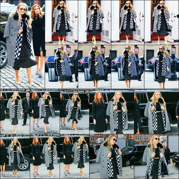 15.02.2017 ─ Blake Lively a été photographiée, alors, qu'elle arrivait au magasin Louboutin, étant à New-York C.Notre belle blonde est ensuite retournée à son hôtel. Concernant sa tenue, elle est plutôt jolie pour ma part je trouve, c'est donc un top pour moi...