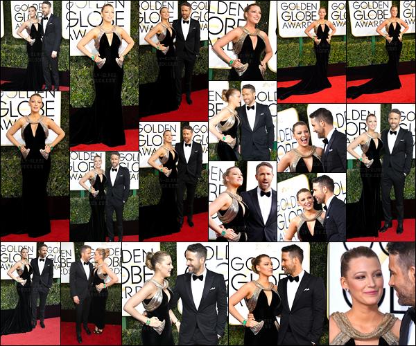 08.01.2017 ─ Blake Lively était présente lors du 18th Annual Post-Golden Globes Party, étant dans Beverly Hills.Enfin une sortie pour notre Blake ! Et c'est aux côté de son mari que la belle a posée. Concernant sa tenue, c'est un gros top de ma part pour la belle.