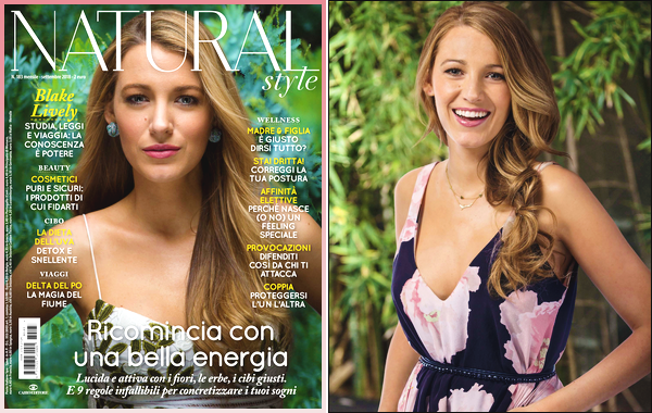 - '-PHOTOSHOOT ●- Blake Lively a fait la couverture de « Natural Style » à l'édition de septembre ! -
