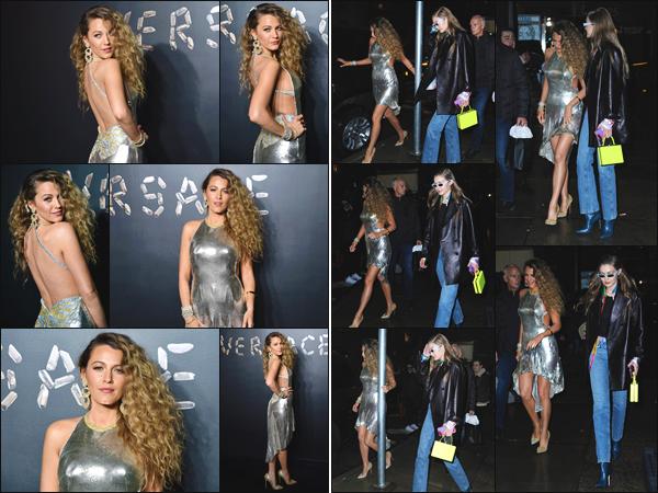 - ''•-02/12/18-'  Blake Lively était présente lors du défilée de « Versace Pre-Fall 2019 fashion show » à New York ! J'accorde un énorme top pour la tenue et la mise en beauté de notre belle actrice. Que pensez-vous de son style lors de cette sortie ? Un top ou un flop ? -