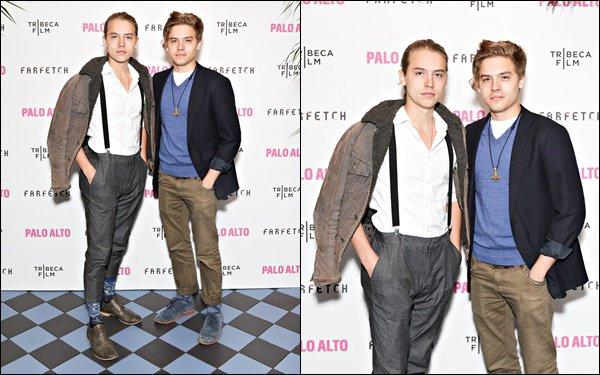 """* 24/04/2014 : Dylan et son frère jumeau Cole étaient présent à """"Palo Alto"""" After Party 2014. *"""